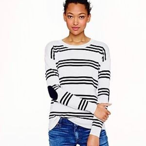 Merino Wool Triple-Stripe Elbow Patch Sweater
